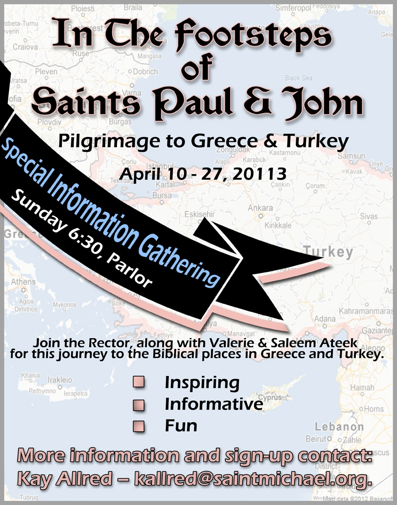 Greece, Turkey Trip meeting poster